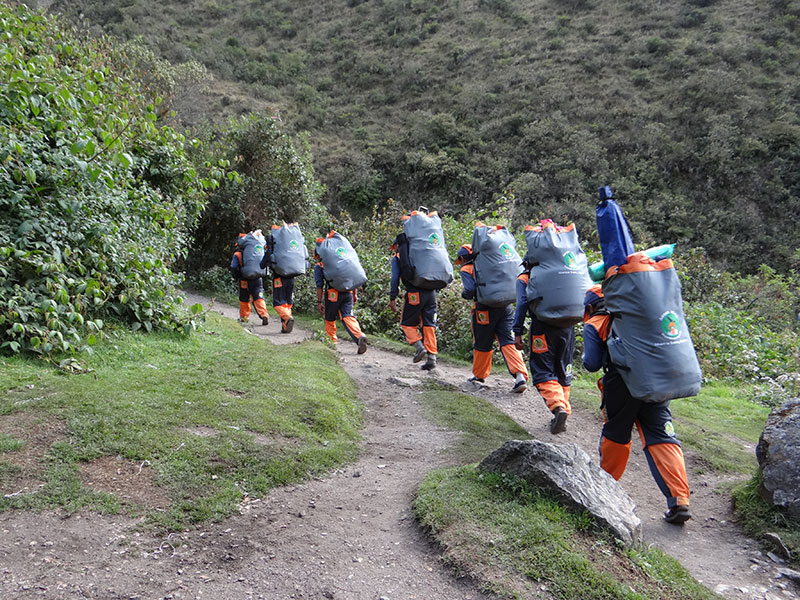 Porters at Inca Trail