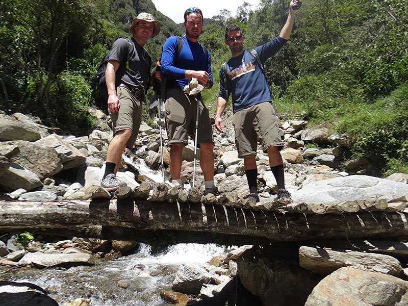 Brigde in Salkantay trek